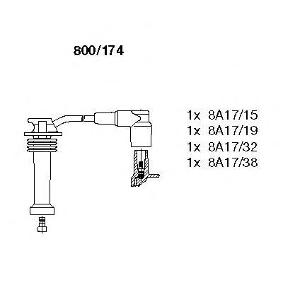 К-т проводов зажигания Ford, Mazda 2, Volvo