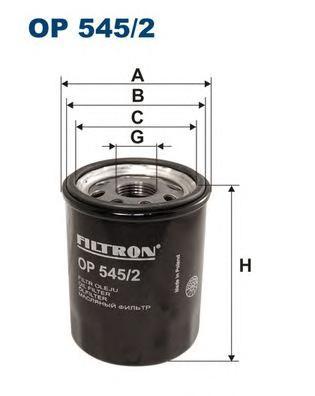 Фильтр масляный OP545/2