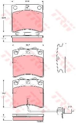 Тормозные колодки передние