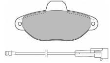 К-т торм. колодок Fr FI 500 07-/ FO Ka 09-