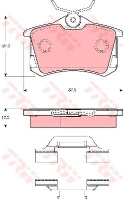 Колодки тормозные дисковые задн SEAT: LEON 99-, LEON 05-, TOLEDO II 99-06, SKODA: OCTAVIA 01-, OCTAVIA Combi 02-, VW: BORA 98-05, BORA универсал 99-05, GOLF IV 00-05, GOL