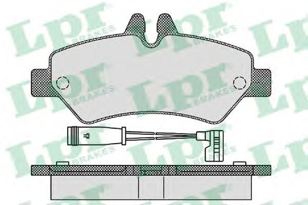 Колодки тормозные LPR 05P1293 VW Crafter 06- задн