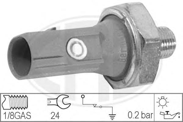 Датчик давления масла ERA 330539 CITROEN: C-CROSSER (EP_) 2.4 16V 07- \ MITSUBISHI: COLT VI 1.1/1.3/1.5/1.5 CZT 04-, GRANDIS 2.4 04-, MONTERO CLASSIC (V2_W) 3.8 02-, MONTERO IV