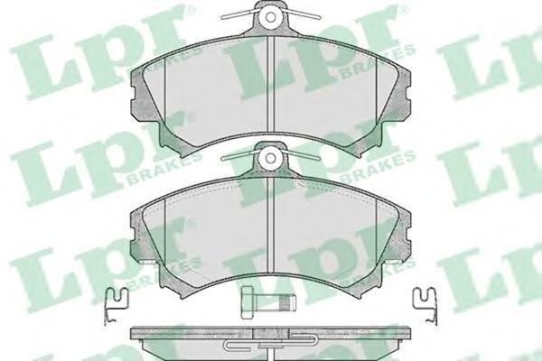 Комплект тормозных колодок 05P615