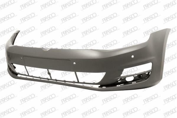 Бампер передний грунтованный (с парковочным автопилотом) / VW Golf-VII 13~17