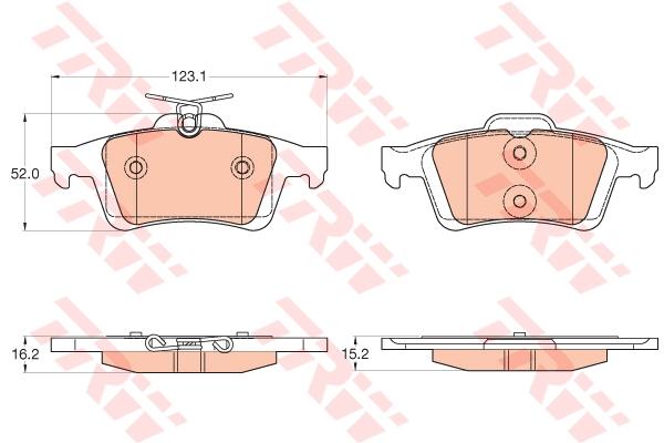 Колодки задние FORD C-MAX II GDB2033