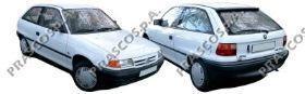 Бампер передний черный / OPEL Astra F 92~98