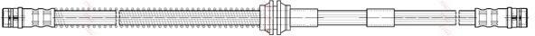 Шланг тормозной передний AUDI Q7 (4L), VW TOUAREG (7L_) PHA415