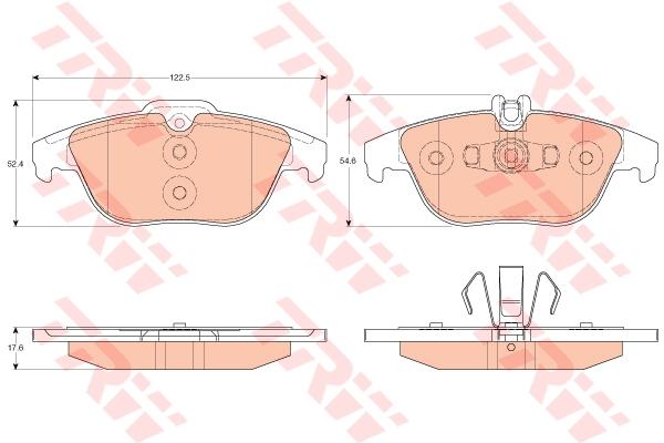 Колодки задние MERCEDES W204, X204 GDB2051