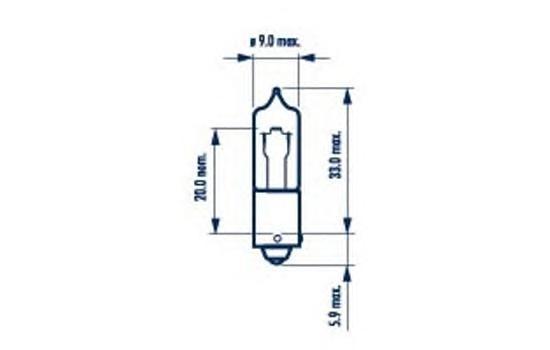 Лампа NARVA 68191 H21W 12V 21W (BAY9s) белая