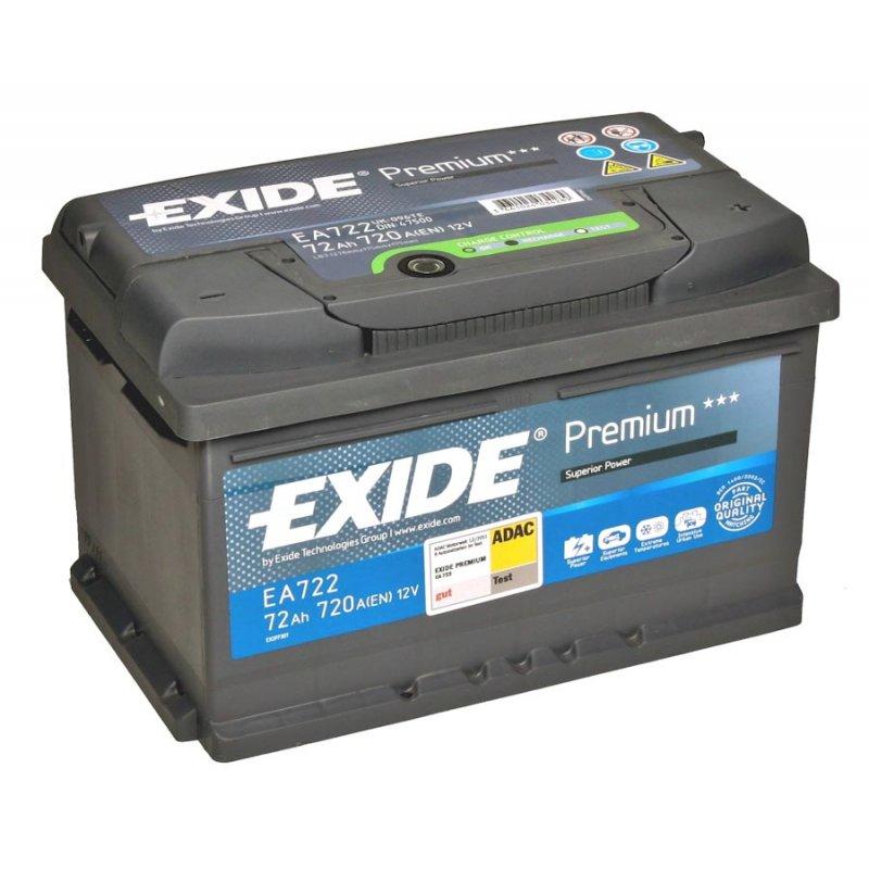 Аккумулятор EXIDE PREMIUM 12V 72AH 720A ETN 0(R+) B13 278x175x175mm 16.61kg