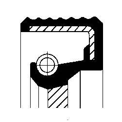 Сальник вх. вала АКПП vag, bmw 45x58x7