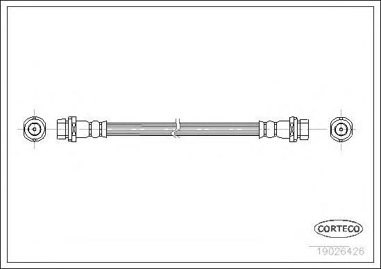 Шланг тормозной FORD: MONDEO I 1.6 i 16V/1.8 TD/1.8 i 16V/1.8 i 16V 4x4/2.0 i 16V/2.0 i 16V 4x4/2.5 i 24V 93-96, MONDEO I седан 1.6 i 16V/1.8 TD/1.8 i