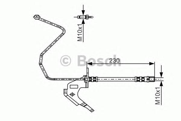 Шланг тормозной OPEL ASTRA H 1.3-2.0 04- 330мм задний прав.