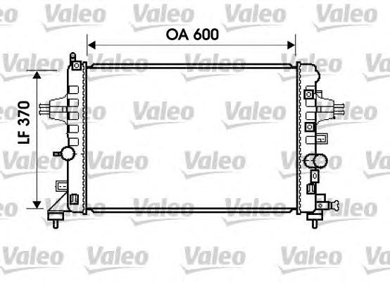 Радиатор VALEO 734382 Opel Astra H 1.6 МКПП 04-
