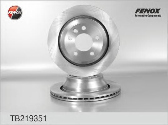 """Диск тормозной FENOX tb219351 VW TOUAREG 16"""" зад 314*22"""