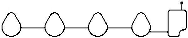 Прокладка впуск.коллектора CHEVROLET/DAEWOO AVEO/MATIZ 1.0-1.2 03-