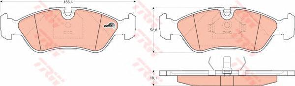 Колодки тормозные дисковые передн DAEWOO: CIELO 94-98, ESPERO 91-99, LANOS 97-, LANOS седан 97-, NEXIA 95-97, NEXIA седан 95-97, OPEL: ASTRA F 92-98, ASTRA F хечбэк 91-98,