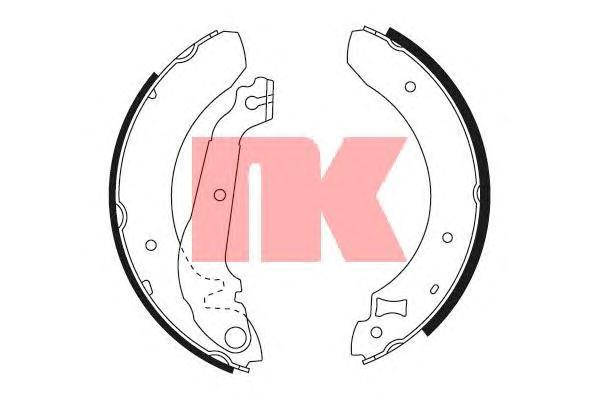 Колодки тормозные барабанные / FORD Siera 1,6-2,3 (228x57mm) 82~