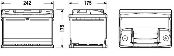 Аккумулятор DETA STANDARD 12V 50AH 510A ETN 0(R+) B13 242x175x175mm 14.2kg