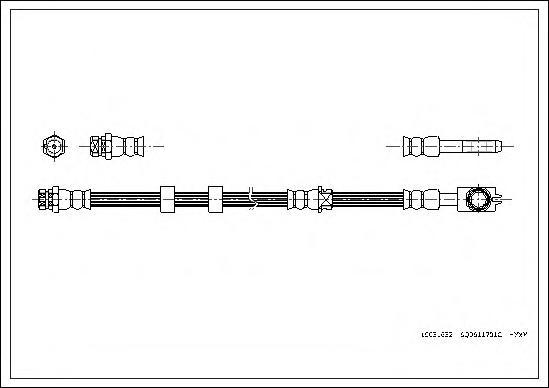 Шланг тормозной CORTECO 19031632 SKODA FABIA 00-, VW POLO 01-