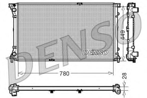 Радиатор охлаждения RENAULT TRAFIC V 2.5 DCI A/C