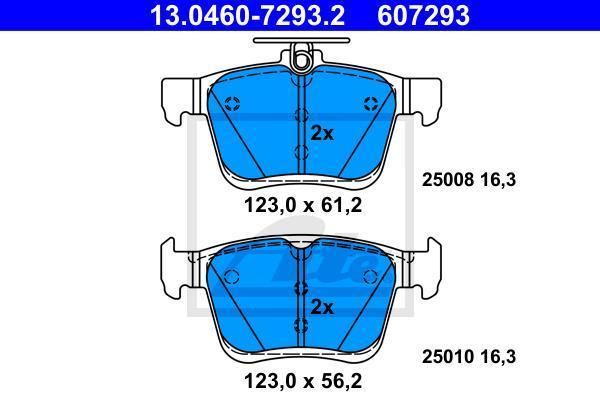 Колодки тормозные дисковые AUDI A3 1.2/1.4/1.8/1.6D/2.0D 04/12-