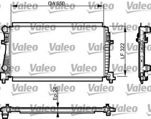 Радиатор системы охлаждения VW: GOLF VII 1.6 TDI 04.13-