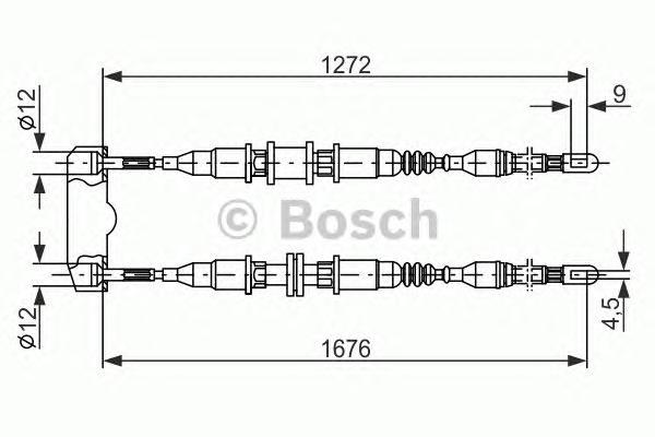 Трос тормозного механизма 1987477136
