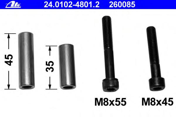 Ремкомплект крепежа суппорта SEAT: AROSA (6H) 1.4/1.7 SDI 97-04, CORDOBA (6K1, 6K2) 1.0 i/1.4 i/1.4 i 16V/1.6 i/1.8 i/1.9 D/1.9 SDI/1.9 TD 93-99, CORDOBA (6K2) 1.0/1.4/1.4 16V/1.6