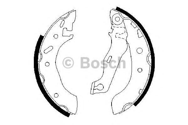 Колодки тормозные BOSCH 0986487553 FORD Escort 1.4 95-96 /MAZDA 180*32