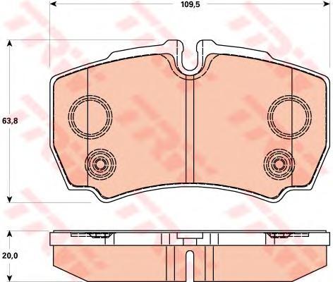 Колодки задние FORD TRANSIT 2006- 2,3-16V GDB1901