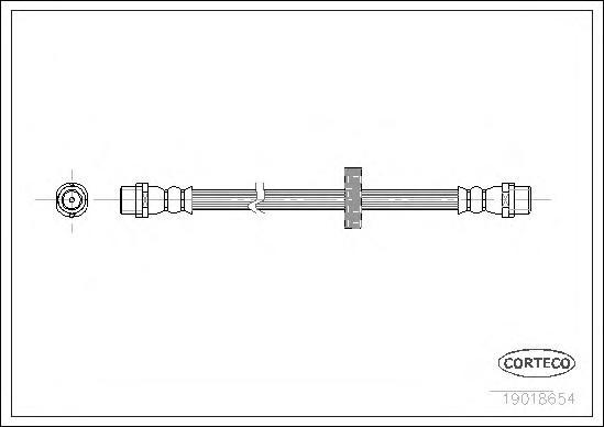 Шланг тормозной VW: CORRADO 1.8 16V/1.8 G60/2.0 i/2.0 i 16V/2.9 VR6 87-95, GOLF II 1.8 GTI G60/1.8 GTI G60 Syncro 83-92, PASSAT 1.6/1.6 TD/1.8/1.8 16V/1.8 G60 Syncro