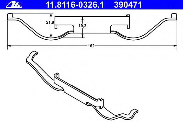 Комплект монтажный тормозных колодок FORD: GALAXY 1.9 TDI/2.0 i/2.3 16V 95-06 \ SEAT: ALHAMBRA 1.8 T 20V/1.9 TDI/1.9 TDI 4motion/1.9 Tdi 4x4/2.0 TDI/2.0 i/2.8 V6/2.8 V6 4motion 96-10 \ VW