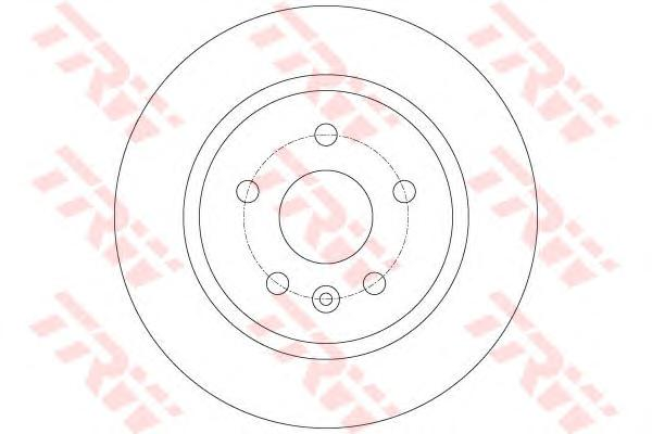 Диск тормозной задний CHEVROLET CRUZE, OPEL ASTRA J, MOKKA DF6340