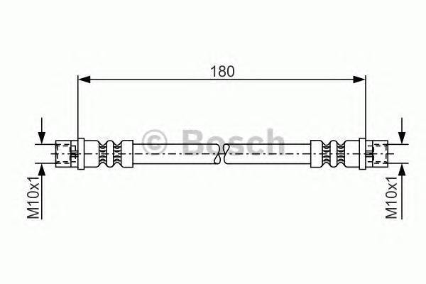 Шланг тормозной BOSCH 1987476018 AUDI A4 95-01 /A8 03-10/ Superb 02-08 задн внутр