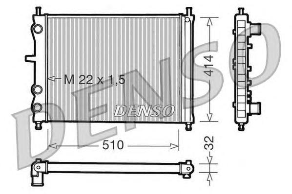 Радиатор системы охлаждения FIAT: BRAVO (182) 2.0 HGT 20V (182AQ) 95 - 01 , MAREA (185) 1.8 115 16V/