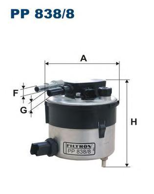 Фильтр топливный PP838/8