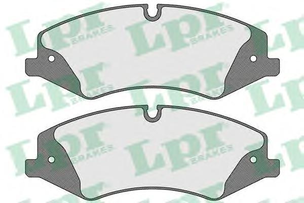 Колодки тормозные LPR 05P1600 RANGE ROVER III 06- Пер