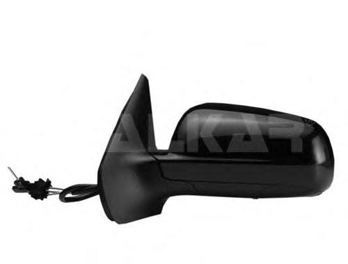 Зеркало наружное в сборе лев, мех, хром, чёрн корп зеркала VW: GOLF IV - 97-03