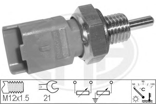 Датчик температуры охлаждающей жидкости CITROEN: BERLINGO (MF) 1.1 i (MFHDZ, MFHFX)/1.4 GNC/1.4 bivalent/1.4 i (MFKFX, MFKFW)/1.4 i bivalent (MFKFW)/1.6 16V (MFNFU) 96-, BERLINGO фургон