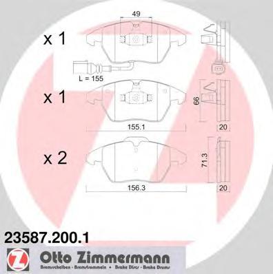 Колодки тормозные дисковые Audi Seat