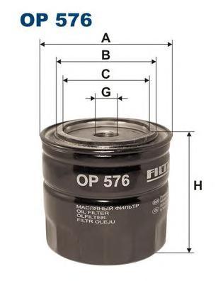 Фильтр масляный OP576