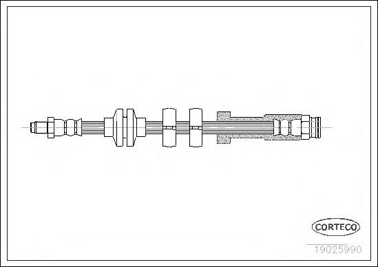 Шланг тормозной FIAT: PUNTO 1.4 GT Turbo/1.6/1.7 D/55 1.1/60 1.2 93-99, PUNTO Van 1.1/1.7 D/1.7 TD 96-00, PUNTO кабрио 60 1.2 94-00 \ LANCIA: Y 1.2 95