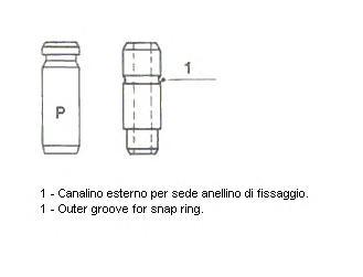 Направляющая клапана METELLI 01S2882 Mitsubishi Lancer/Colt/Space Star 1.3-1.6 16V 95- 5.51x10.61x48 IN