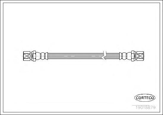 Шланг тормозной OPEL: ASCONA C 1.3 S/1.6/1.6 D/1.6 i/1.6 i KAT/1.8/1.8 E/2.0 i/2.0 i GT/2.0 i KAT 81