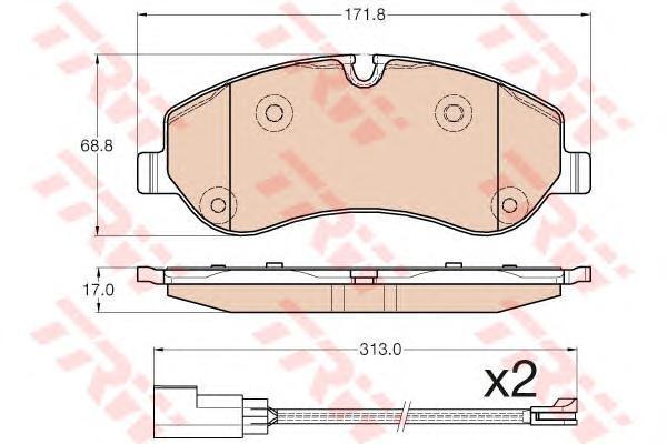 Колодки передние FORD TRANSIT 2012- GDB1967