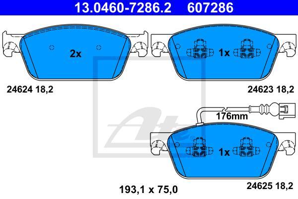 Колодки тормозные дисковые передн, VW: TRANSPORTER (T5) (BUS/MULTIVAN/BOX) 03-