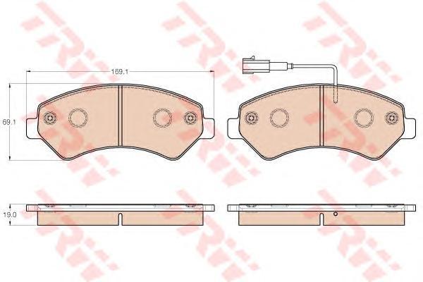 Колодки передние FIAT DUCATO (250) GDB1982