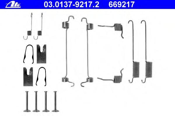 Ремкомплект стояночного тормоза FORD: ESCORT -95 1.8 Turbo D 95-, ESCORT CLASSIC 1.6 16V/1.8 TD 98-00, ESCORT CLASSIC Turnier 1.6 16V/1.8 TD 99-00, ESCORT VI 1.3/1.4 92-95, ESCORT VI